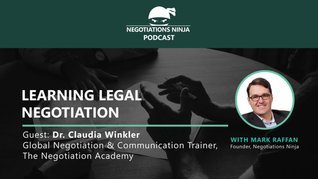 Dr. Claudia Winkler on Legal Negotiation
