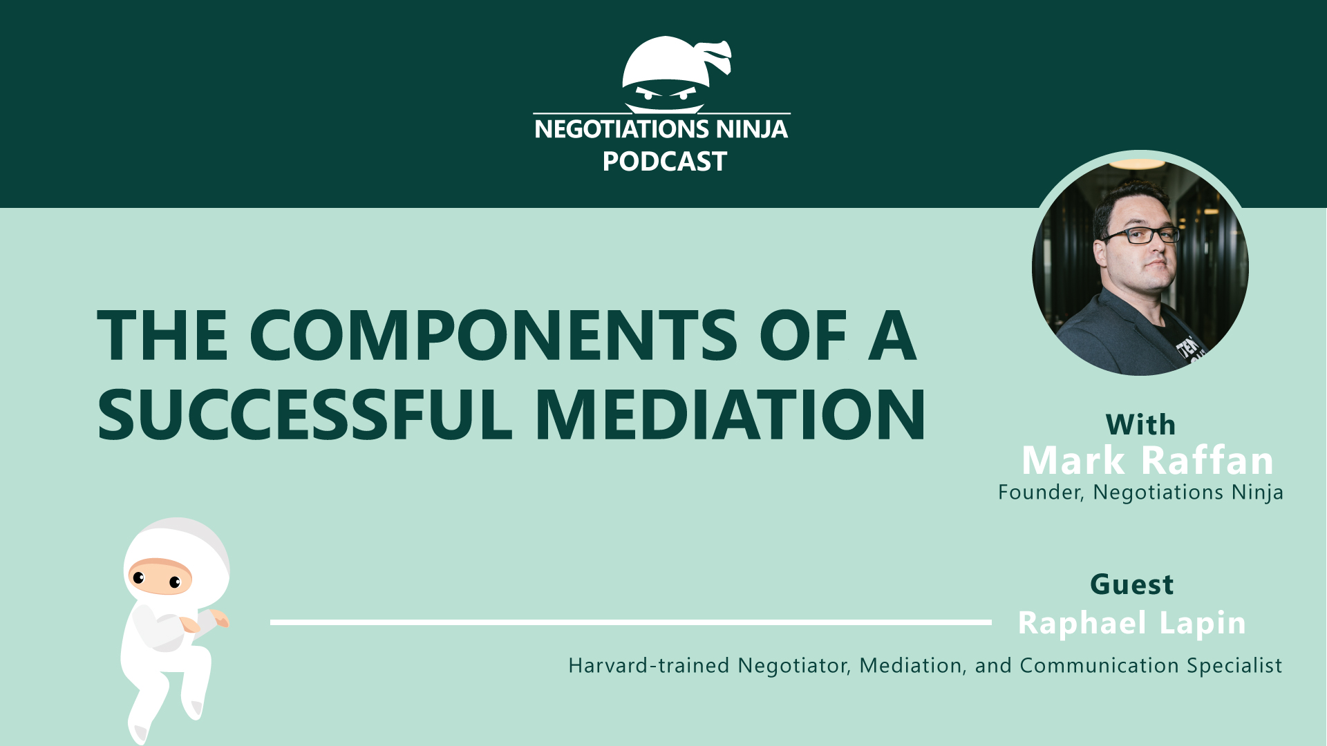 The components of a successful mediation with Raphael Lapin